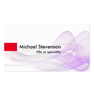 Wave Pattern Abstract Modern Unique Consultant Pack Of Standard Business Cards