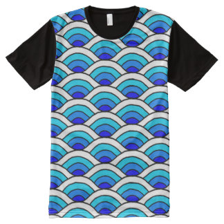 wave pattern All-Over print T-Shirt