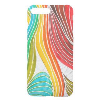 Wave Pattern Drawn By Watercolor Paints iPhone 8 Plus/7 Plus Case