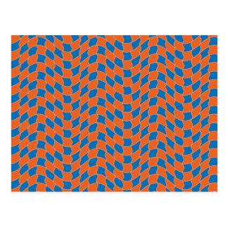 Wave Pattern in Blue and Orange Postcard