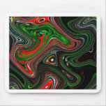 Wave pattern mouse pad