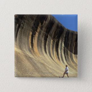 Wave Rock, Western Australia 15 Cm Square Badge