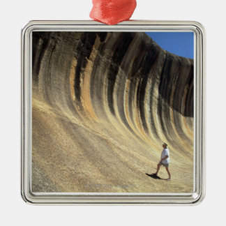 Wave Rock, Western Australia Silver-Colored Square Decoration