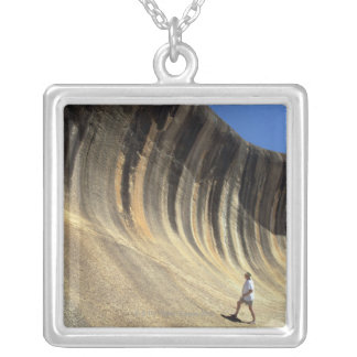 Wave Rock, Western Australia Silver Plated Necklace