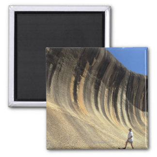 Wave Rock, Western Australia Square Magnet