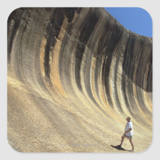 Wave Rock, Western Australia Square Sticker