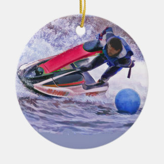 Wave Runner Around the Buoy Christmas Ornament