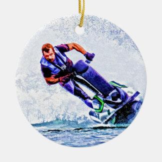 Wave Runner Spray Christmas Ornament