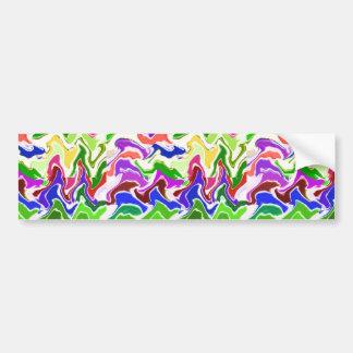 Wave Sensual Artistic TEMPLATE easy add TEXT PHOTO Bumper Sticker