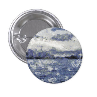 Wave swells in a cloudy day 3 cm round badge