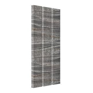 Wave Textured Concrete Triptych Canvas Print