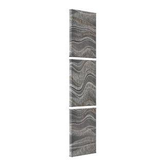Wave Textured Concrete Vertical Triptych Canvas Print