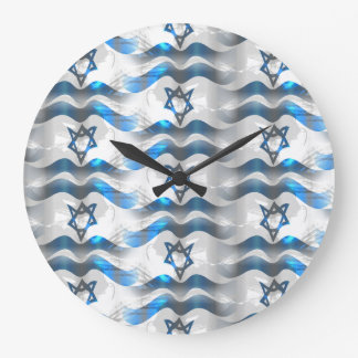 Wave Your Israeli Flag Large Clock