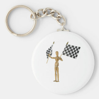WaveFlags071809 Basic Round Button Key Ring