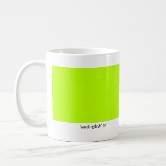 Wavelength 560 nm coffee mug