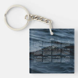 Wavelet; 2013 Calendar Single-Sided Square Acrylic Key Ring