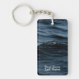 Wavelet; Customizable Single-Sided Rectangular Acrylic Key Ring