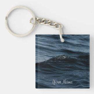 Wavelet; Customizable Single-Sided Square Acrylic Key Ring