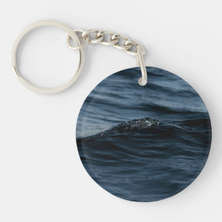 Wavelet Single-Sided Round Acrylic Key Ring