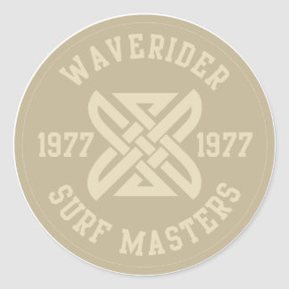 Waverider Classic Round Sticker