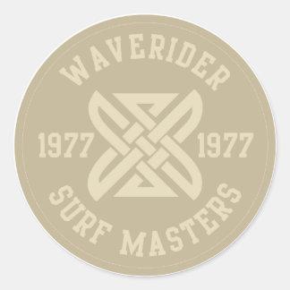 Waverider Round Sticker