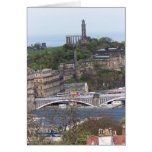 Waverley Station and other monuments in Edinburgh Greeting Card