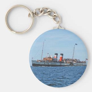 Waverly paddle steamer basic round button key ring