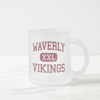 Waverly - Vikings - High School - Waverly Nebraska Frosted Glass Coffee Mug