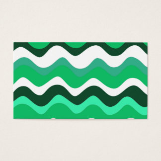 Waves 2 (green) business card