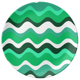Waves 2 (green) plate