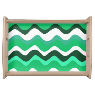 Waves 2 (green) serving tray