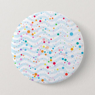 Waves 7.5 Cm Round Badge