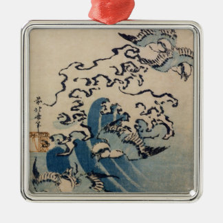 Waves and Birds, c.1825 Christmas Ornament