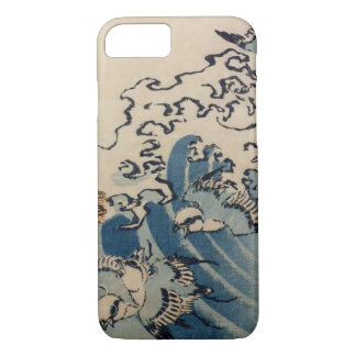 Waves and Birds, c.1825 (colour woodblock ) iPhone 7 Case