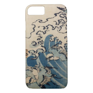 Waves and Birds, c.1825 (colour woodblock ) iPhone 8/7 Case
