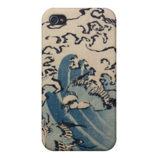 Waves and Birds, c.1825 (colour woodblock ) Cases For iPhone 4