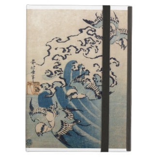 Waves and Birds, c.1825 (colour woodblock print) Cover For iPad Air