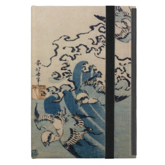 Waves and Birds, c.1825 (colour woodblock print) Cover For iPad Mini