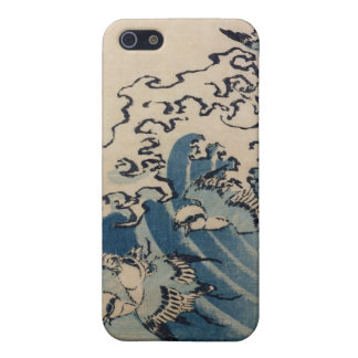 Waves and Birds, c.1825 (colour woodblock print) Cover For iPhone 5/5S