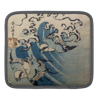 Waves and Birds, c.1825 (colour woodblock print) iPad Sleeve