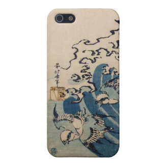 Waves and Birds, c.1825 (colour woodblock print) iPhone 5/5S Cover