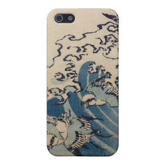 Waves and Birds, c.1825 (colour woodblock print) Cover For iPhone 5