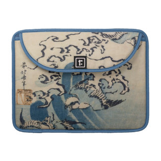 Waves and Birds, c.1825 (colour woodblock print) Sleeve For MacBook Pro