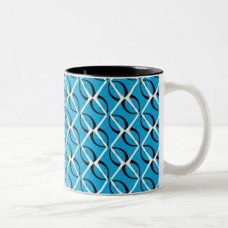 Waves and Diamonds Two-Tone Mug