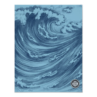 Waves and Strands - The Independent Creative 11 Cm X 14 Cm Invitation Card