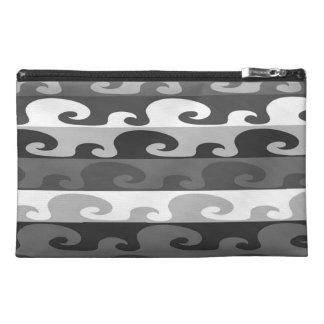 Waves (b&w) travel accessory bag