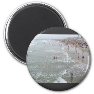 Waves Beaches Oceans Crowds Swimmers Swimming Magnet
