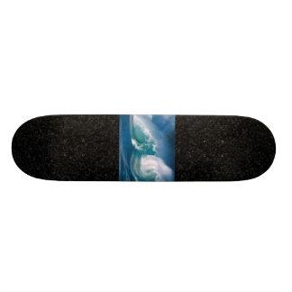 waves/black skateboard deck