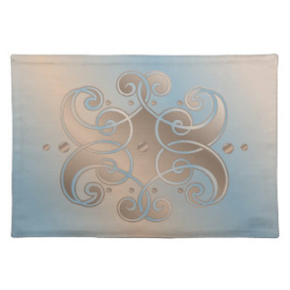Waves Blue & Beige Abstract Placemat