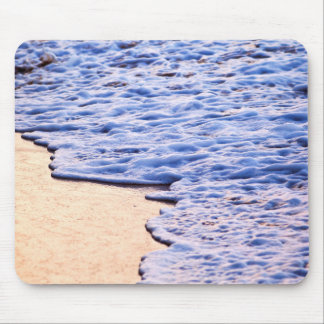 Waves breaking on tropical shore mouse pad